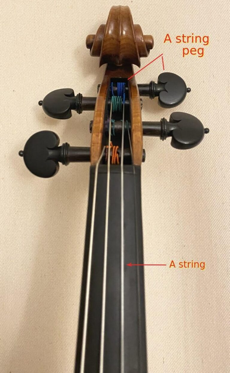 Violin A string peg