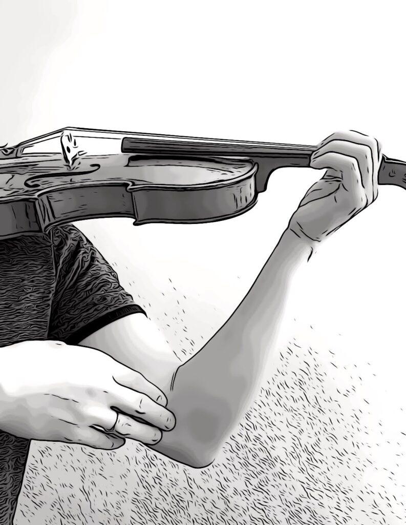 vibrato o violin, checking on your left hand