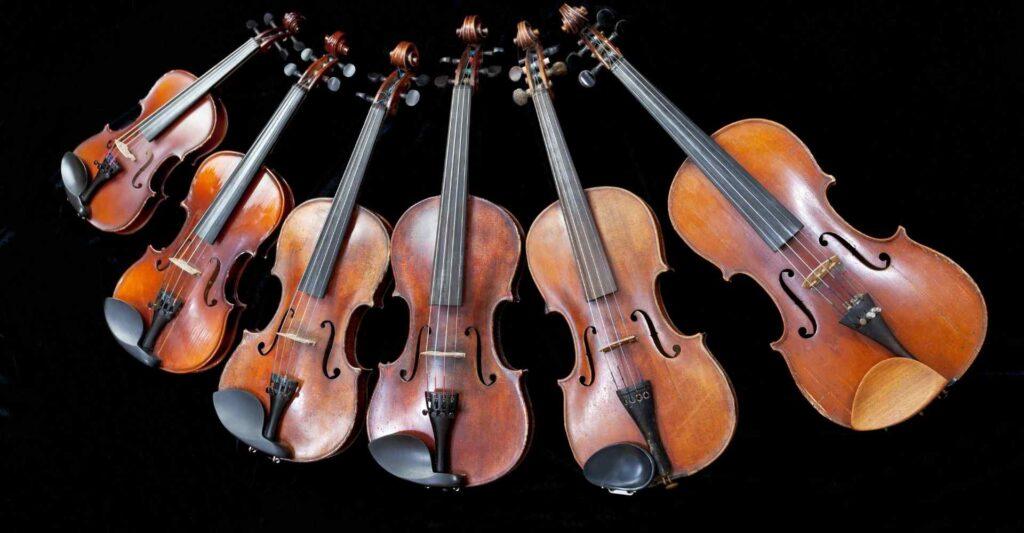 the right Violin size